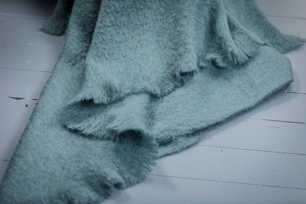 Studio Green Mohair Throw