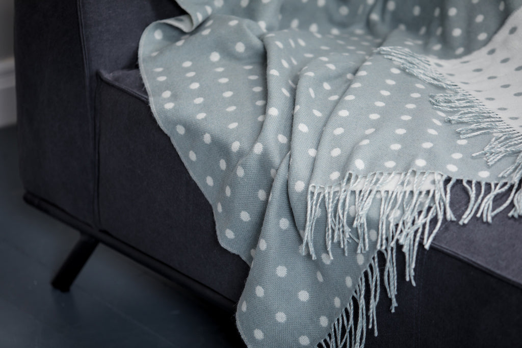 Aqua Dotty Throw