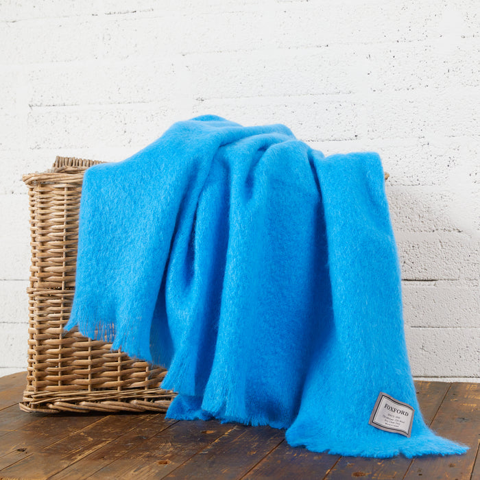 Mayo Blue Mohair Throw