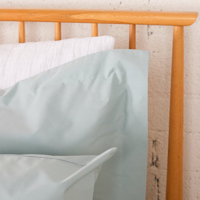 Aqua Percale Plain Dye Oxford Pillowcase