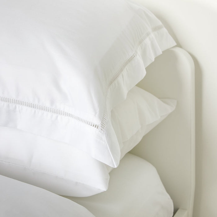 Foxford Pure White Ladder Stitch Fitted Sheet