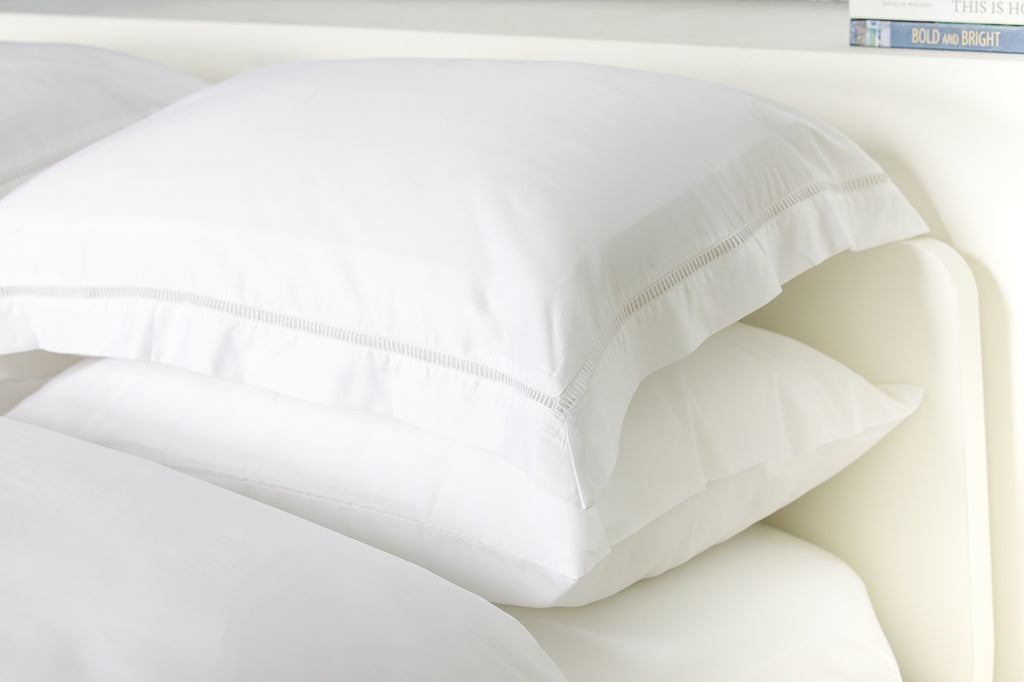 Foxford Pure White Ladder Stitch Duvet Set