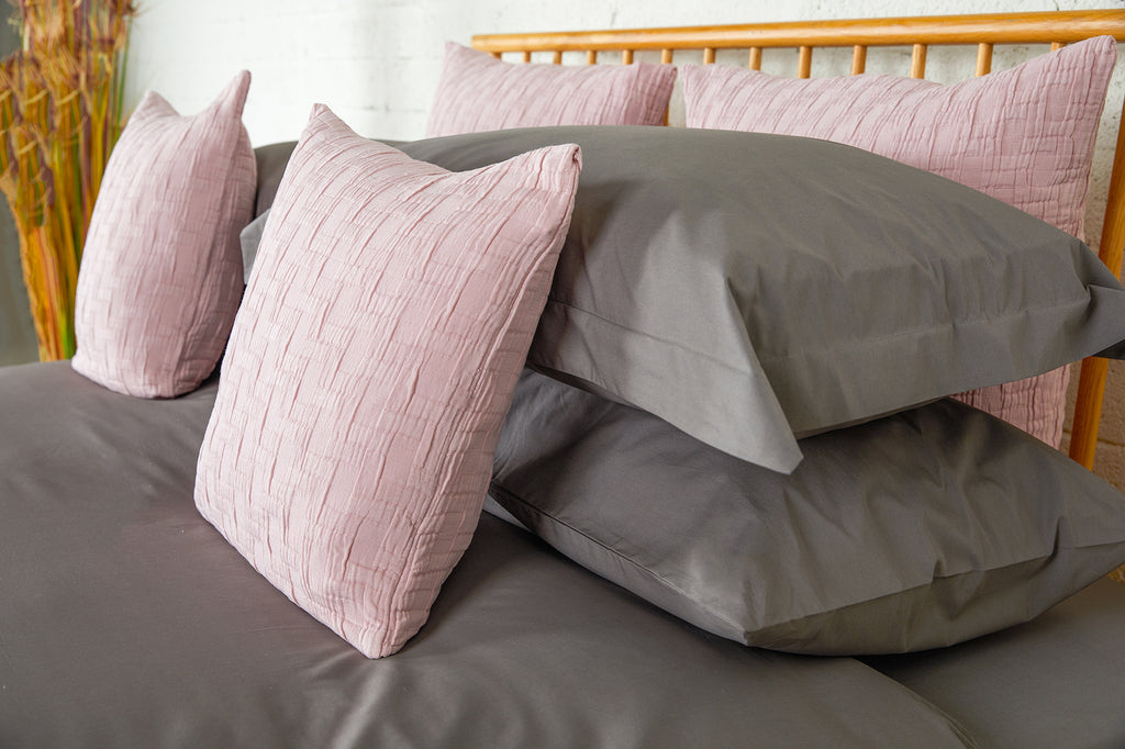 Dark Grey Percale Plain Dye Fitted Sheet
