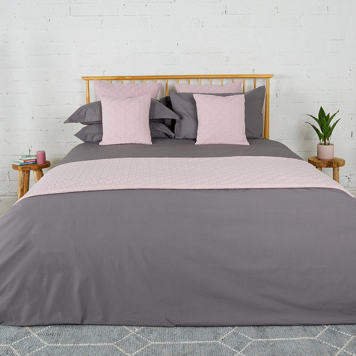 Dark Grey Percale Plain Dye Duvet Set