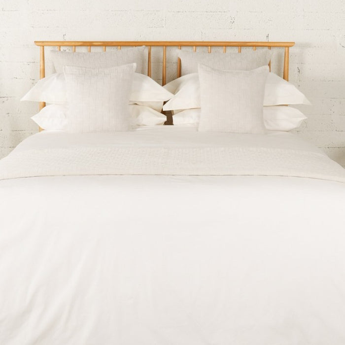 Ivory Percale Plain Dye Duvet Set