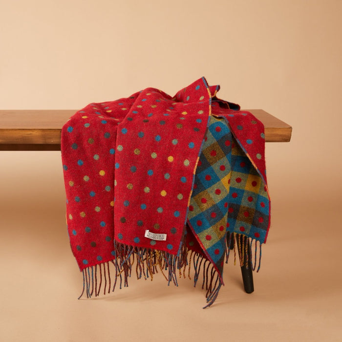 Red Multi Spot Lap Blanket