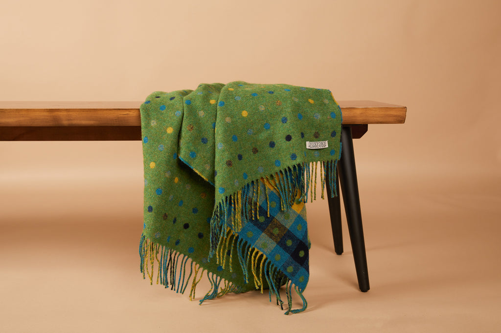 Green Multi Spot Lap Blanket