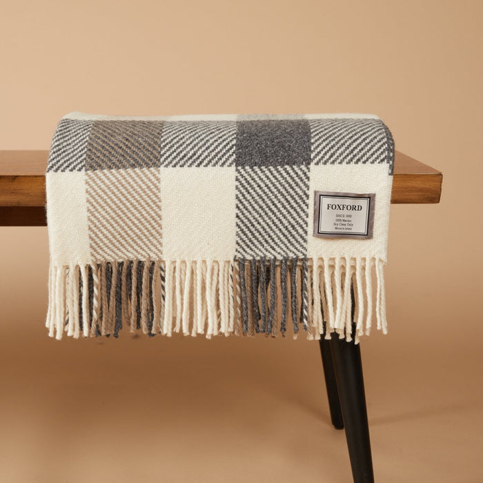 Classic Check Merino Lap Blanket - 4 Sizes