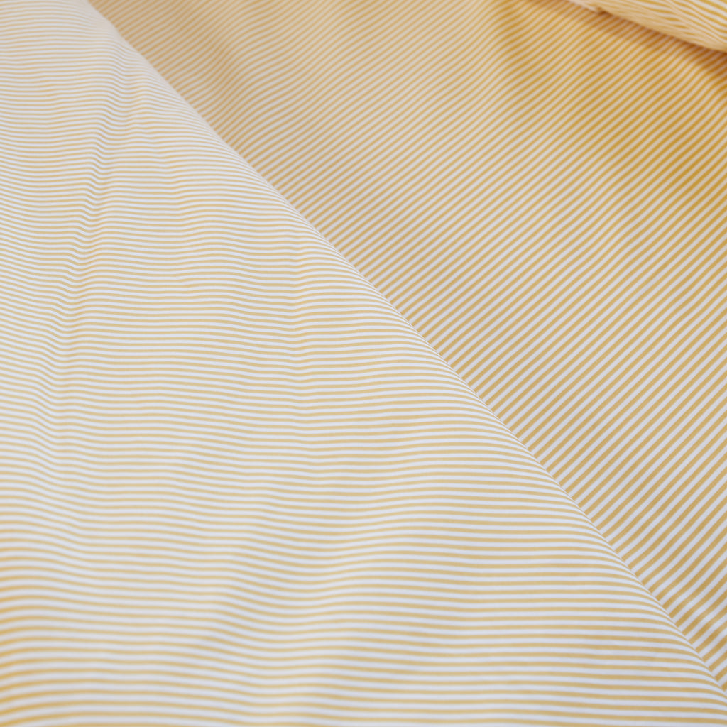 Yellow Ticking Stripe Duvet Set