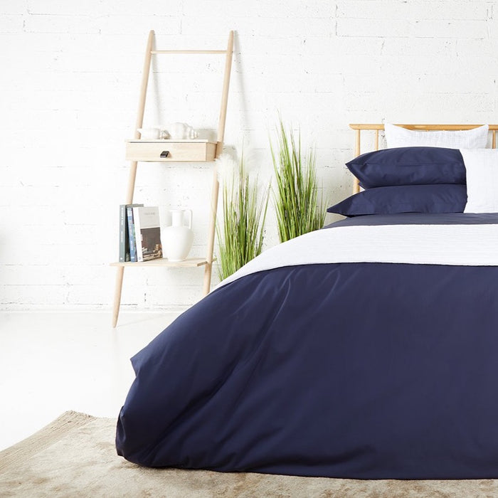 Midnight Percale Plain Dye Duvet Set