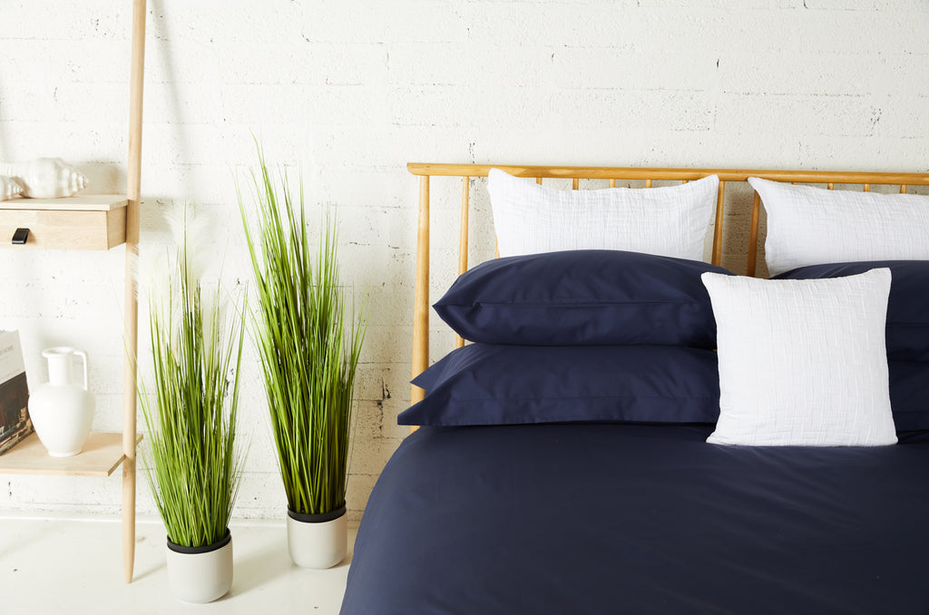 Midnight Percale Plain Dye Flat Sheet