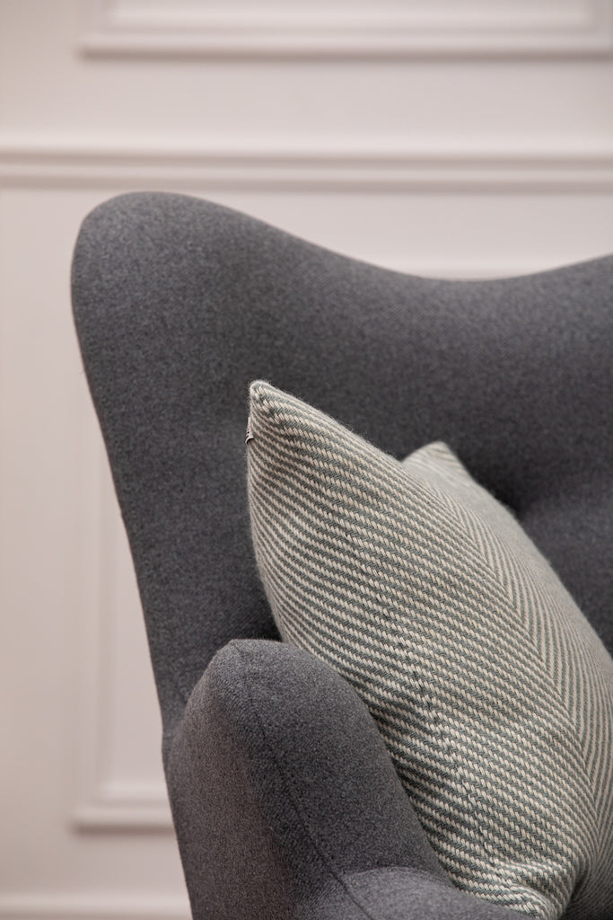 Giant Grey Herringbone Cushion
