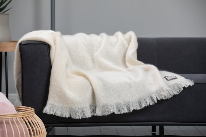 White Mohair Throw