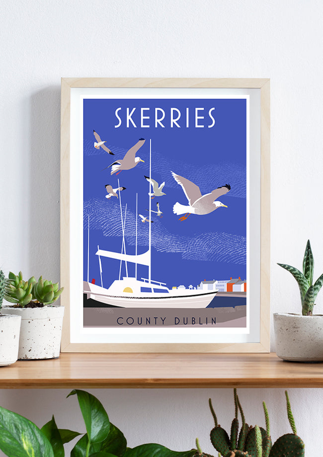 Roger O'Reilly Counties of Ireland Skerries - Framed Print