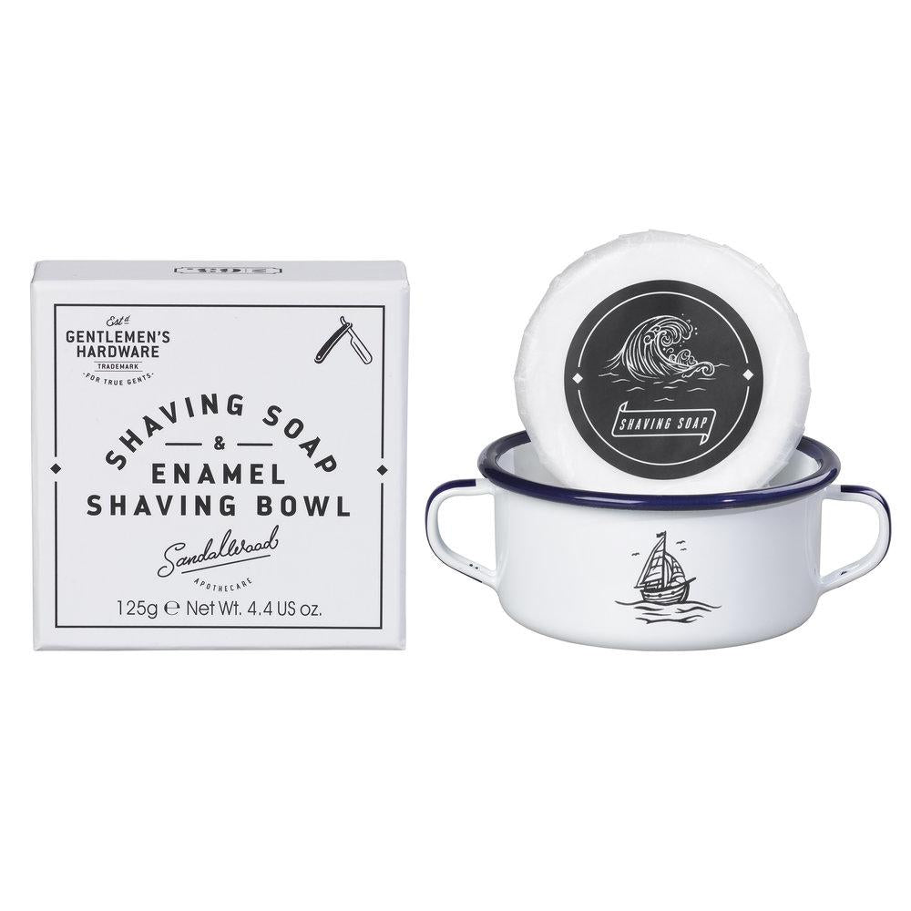 Gentlemen's Hardware Shaving Soap & Enamel Bowl