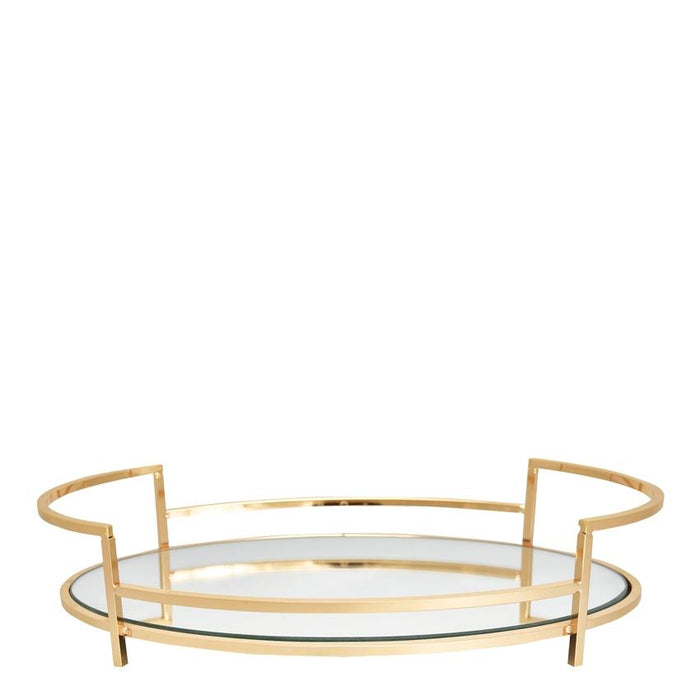 GreenGate Tray With Mirror Medium - Gold