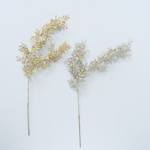 Gold & Silver Leaf Decorative Branch