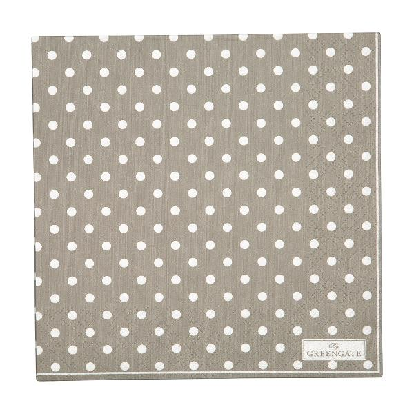 GreenGate Napkin Spot Grey Large - 20pcs