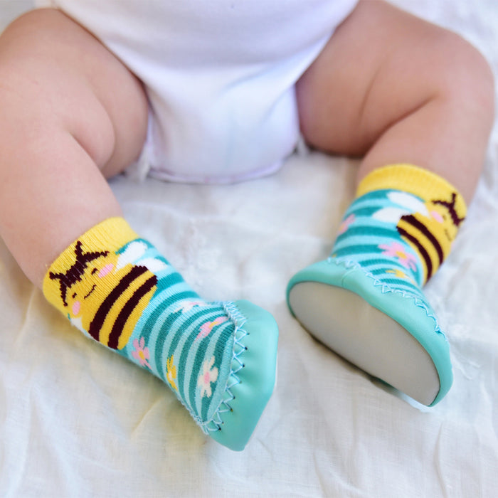 Bumble Bee Moccasin Slippers