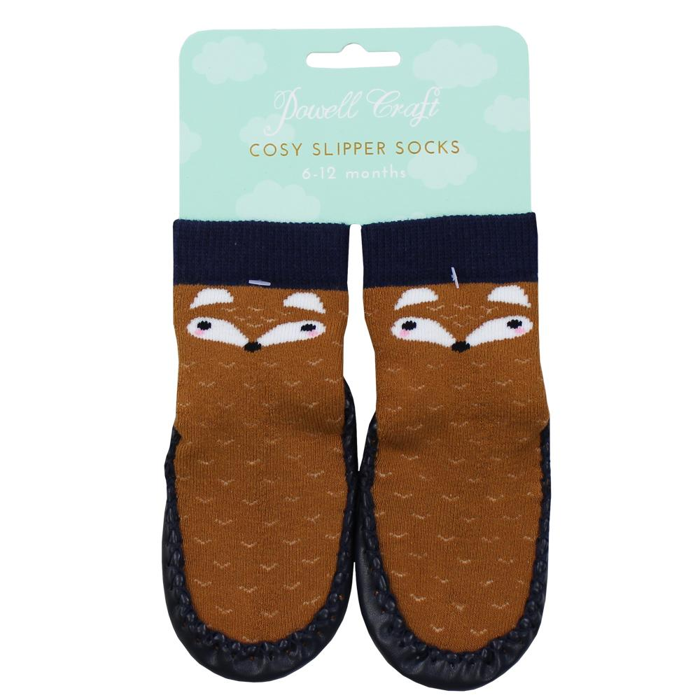 Knitted Fox Moccasins
