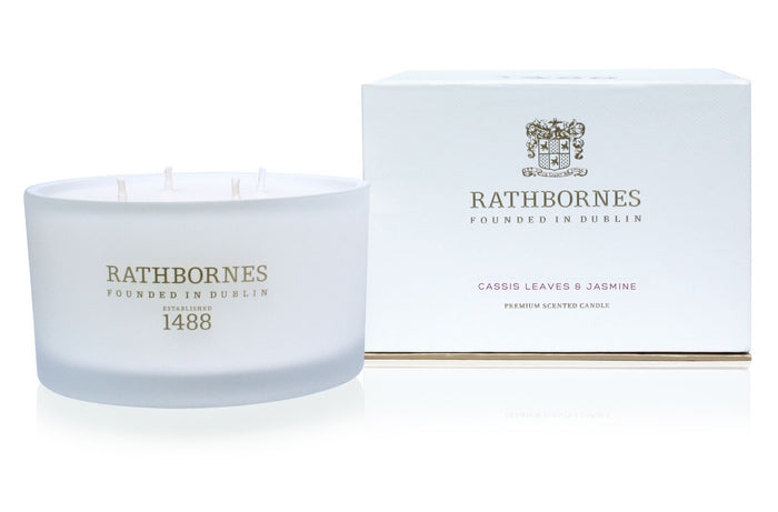 Rathbornes Cassis Leaves & Jasmine - Luxury Candle