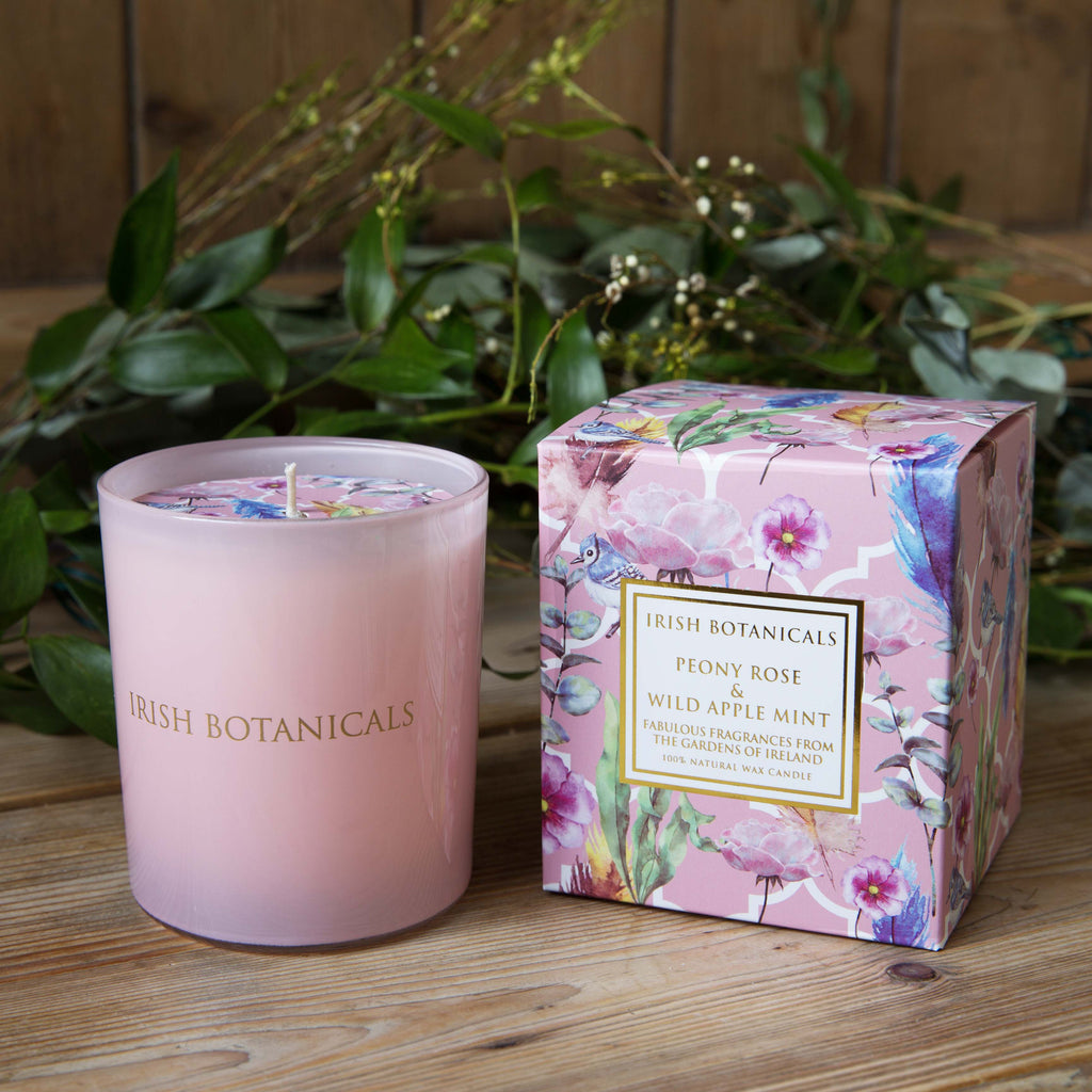 Peony Rose & Wild Apple Mint Candle and Perfume Gift Set