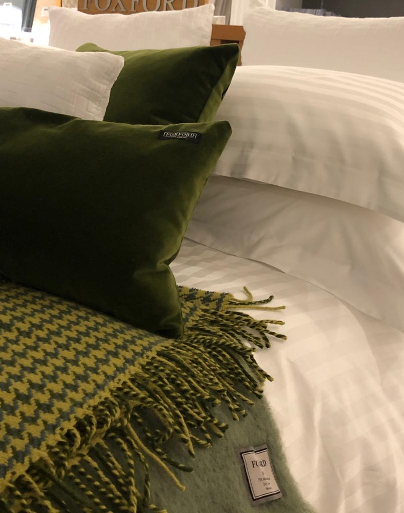 Forest Houndstooth Throw