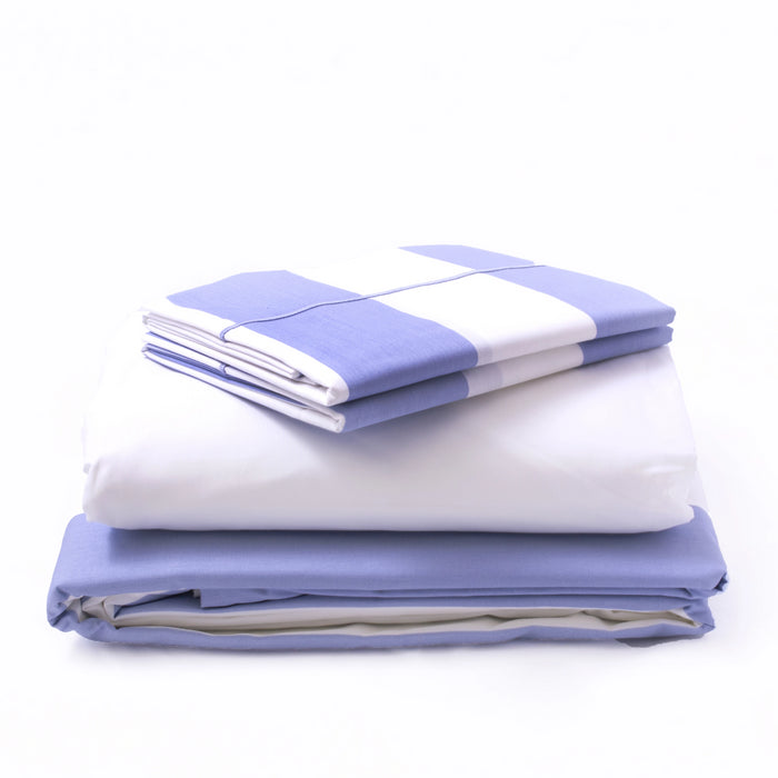 7 cm Blue Stripe Bed Linen Set
