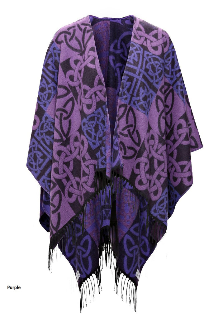 Fringed Shawl with Celtic Motif