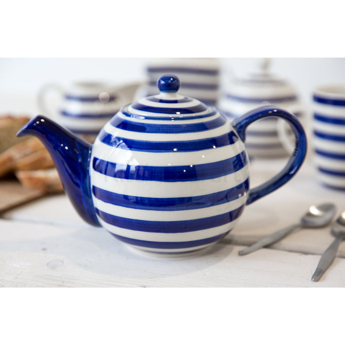 4 Cup Teapot Blue Bands
