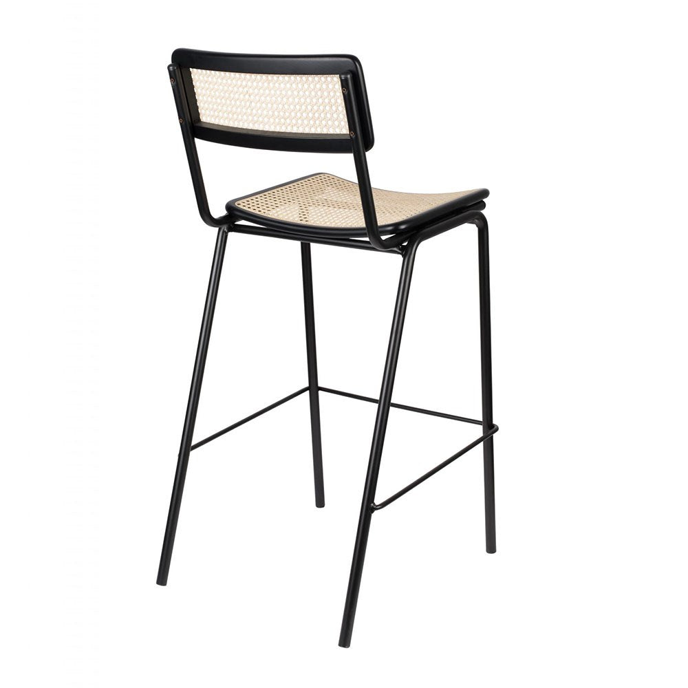 Jort Counter Stool - Black/Natural