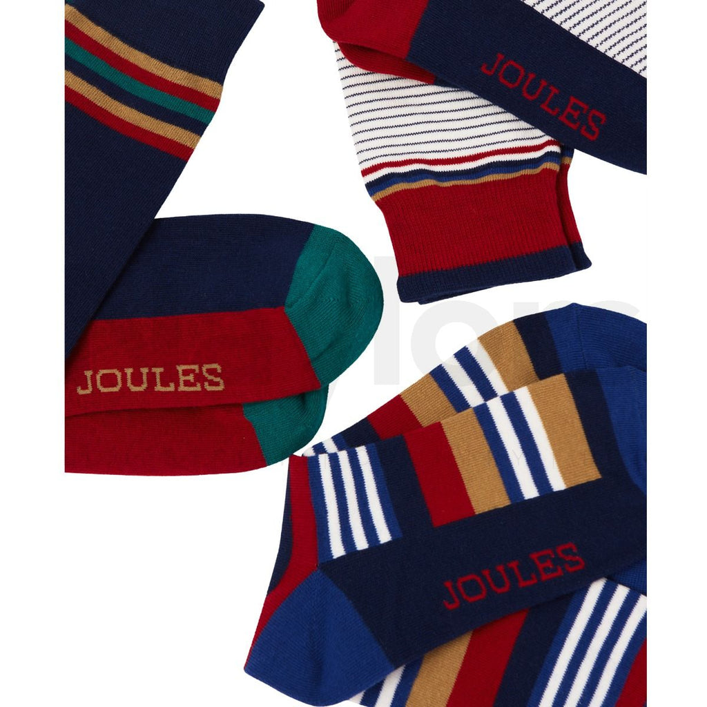 Joules Men's Multi Stripe Socks- 3 Socks