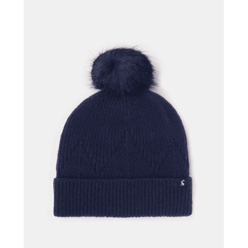 Joules Thurley Knitted Bobble Hat - French Navy