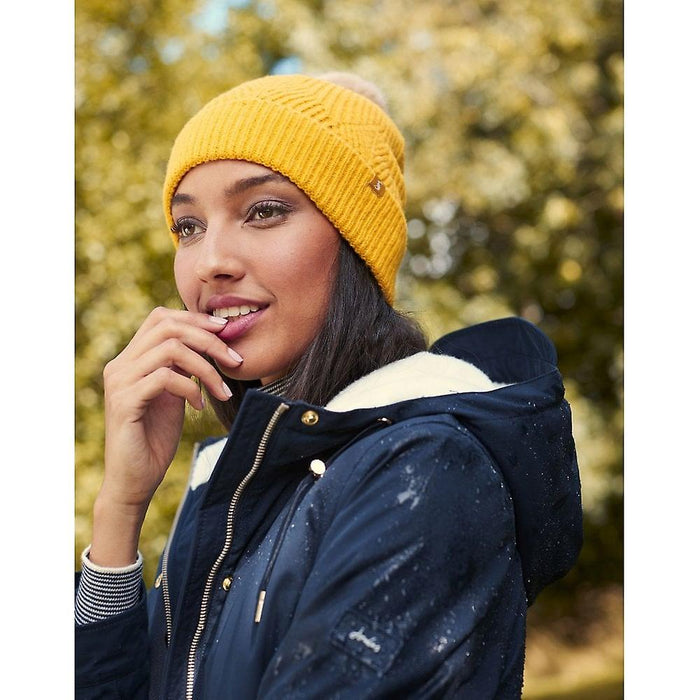 Joules Thurley Knitted Bobble Hat - Gold