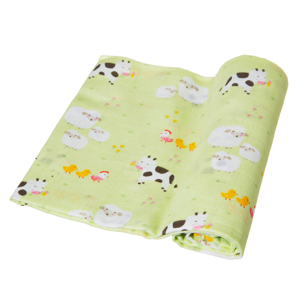 Farmyard Friends Muslin Cloths - Set of 3