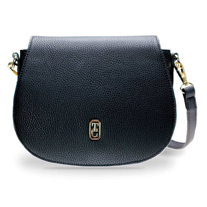 Tipperary Crystal- Kensington Black Saddle Bag