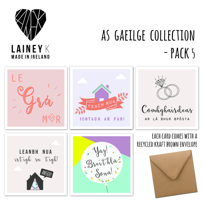 As Gaeilge Collection - Greeting Card Pack