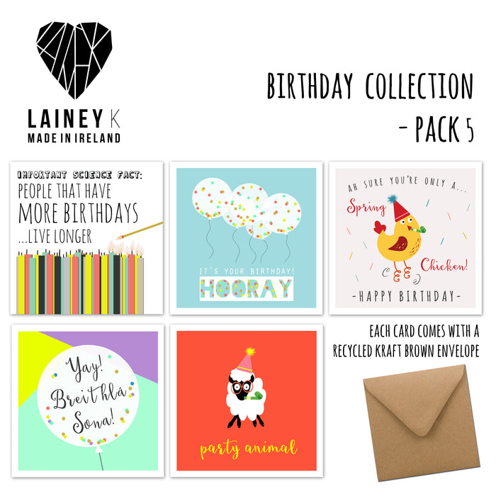 Birthday Collection - Greeting Card Pack