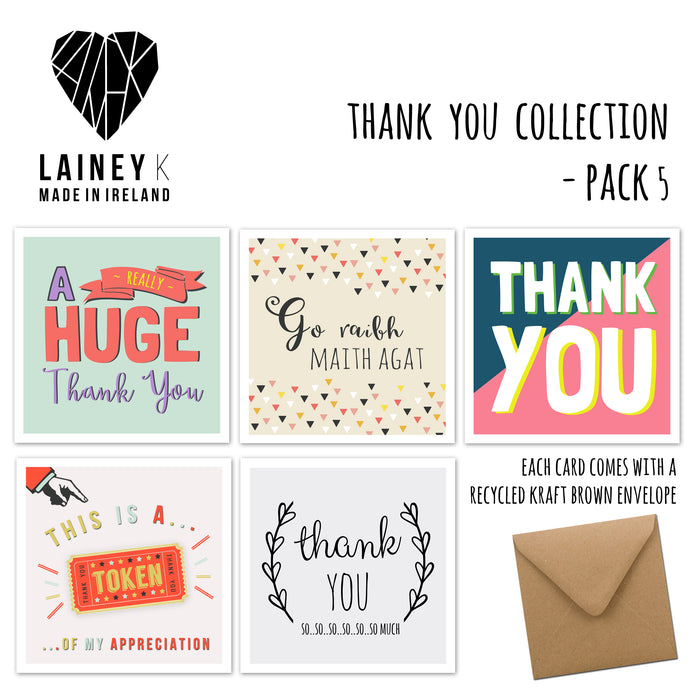 Thank You Collection - Greeting Card Pack
