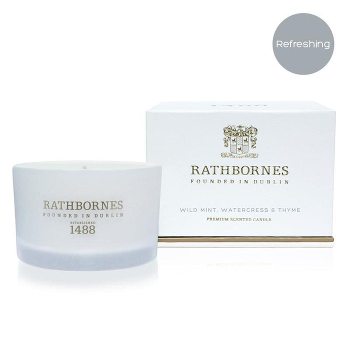 Rathbornes Wild Mint, Watercress and Thyme - Travel Candle