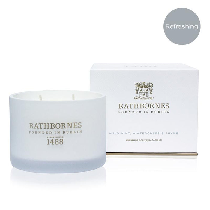 Rathbornes Wild Mint, Watercress and Thyme - Classic Candle