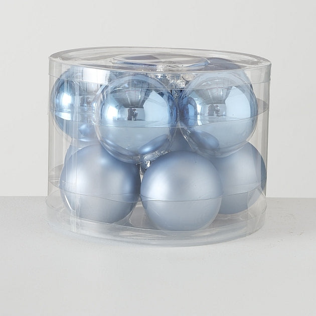 Light Blue Christmas Balls