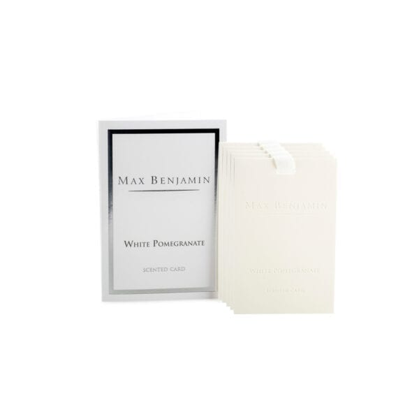 Max Benjamin White Pomegranate Luxury Scented Card