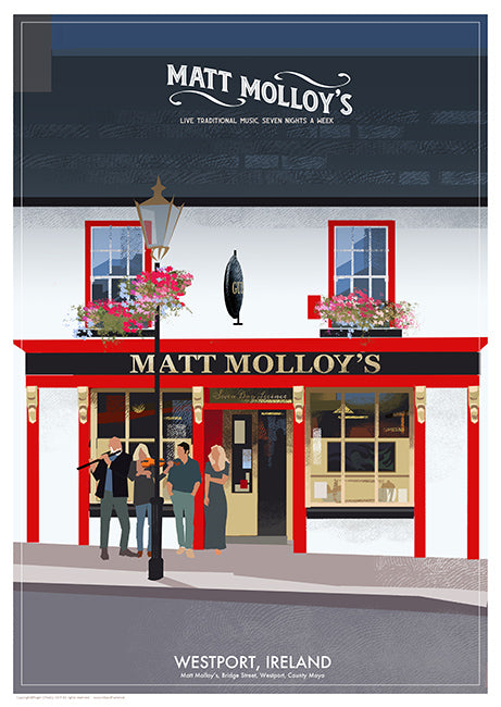 Roger O'Reilly Irish Pubs - Matt Molloy's Print