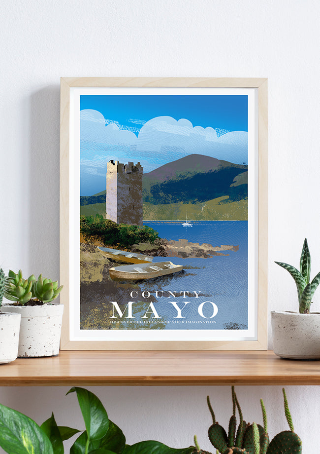 Roger O'Reilly County Mayo - Framed Poster