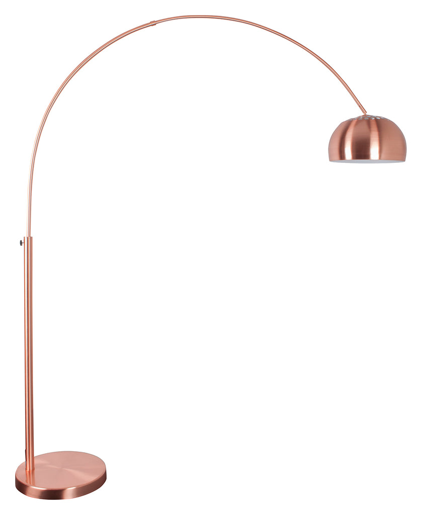 Floor Lamp Metal Bow Copper
