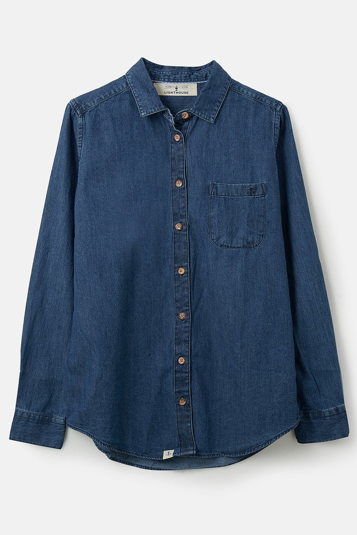 Lighthouse Ocean Shirt - Washed Denim