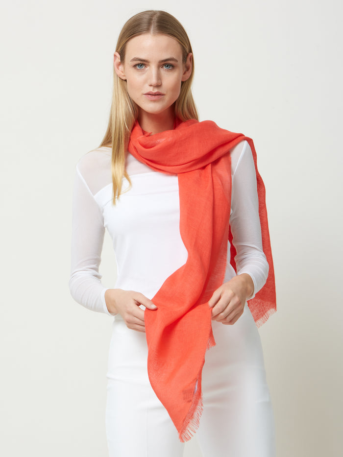 Linen Coral Scarf