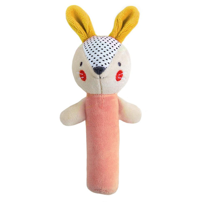 Petite Collage Organic Bunny Squeaker Rattle