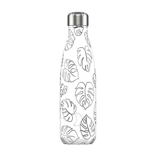 Chillys Water Bottle Line Art Leaves - 500ml